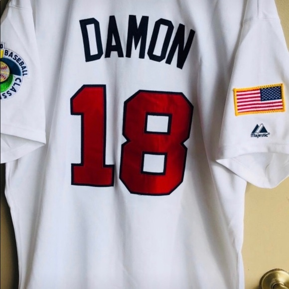 d146d91ad04 Red Sox   Yankees Johnny Damon Team USA Jersey.